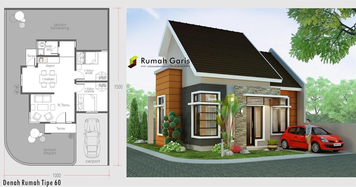 Model Gambar Denah Rumah Type 60 2 Lantai | Denahose