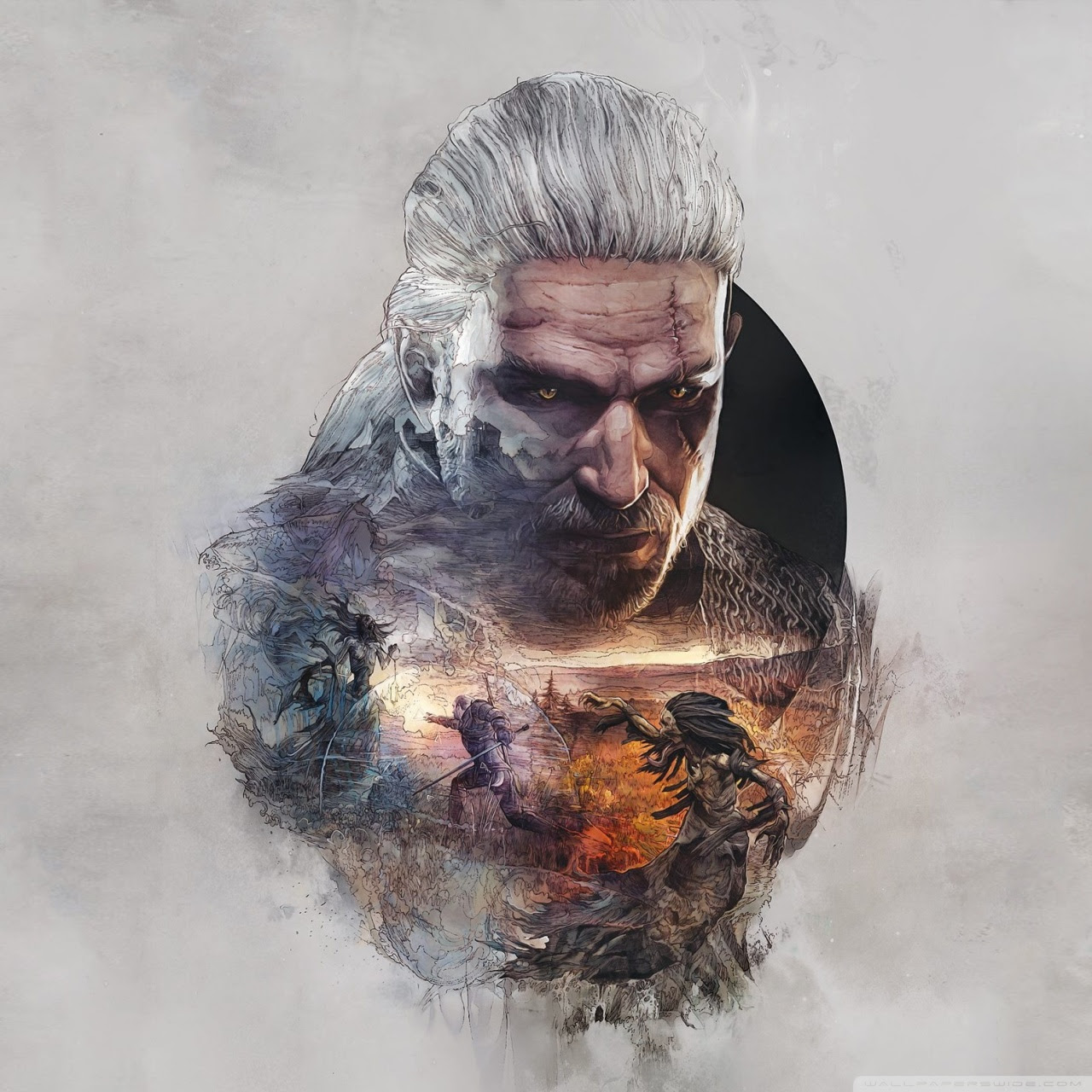 The Witcher 3 Wild Hunt Geralt Fanart Ultra Hd Desktop Background