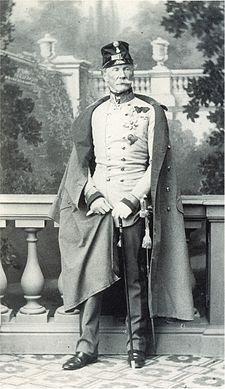 Il feldmaresciallo Heinrich Hermann von Hess in una fotografia del 1860