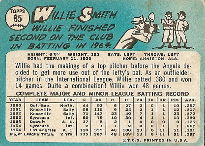 Willie Smith (back) by you.