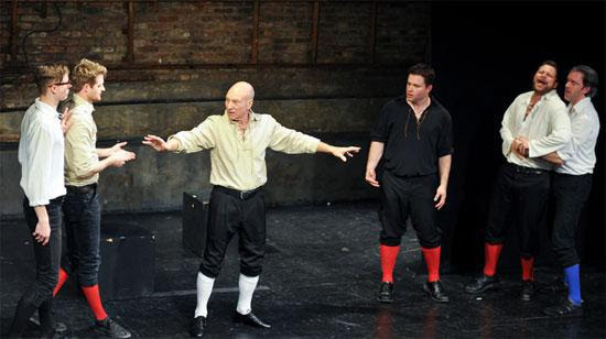 Patrick Stewart in Improvised Shakespeare | image courtesy Time Out Chicago | Tacky Harper's Cryptic Clues