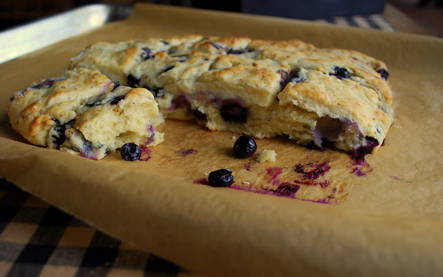 Blueberry Cream Biscuits 1