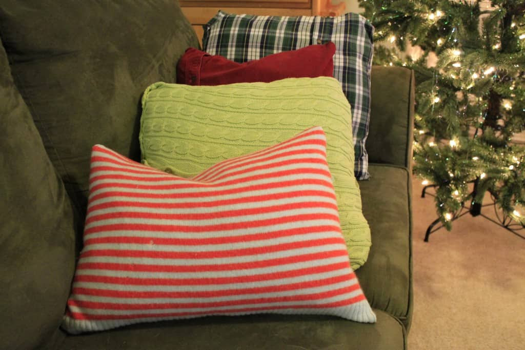 No Sew Sweater Pillows - Charleston Crafted