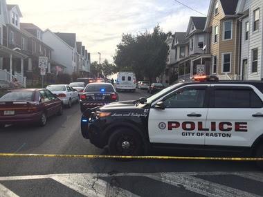 Guns found in home hit by gunfire