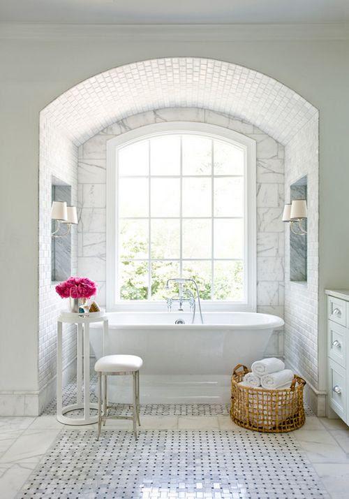 Cool White Bathroom