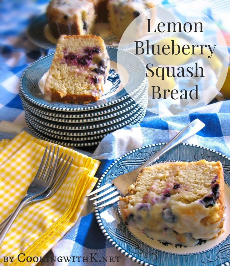 Lemon Blueberry Squash Bread