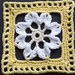 "6"" Framed White Flower Square"