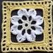 """6"""" Framed White Flower Square"""