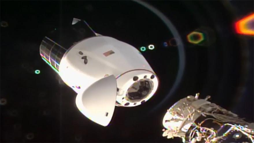 Next-generation Dragon cargo spacecraft returns from space station