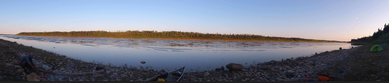 A campsite panorama.