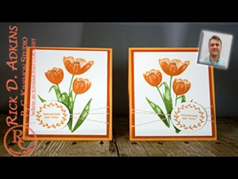 Quick & Easy Tulip Card with the Shadow Stamping Technique featuring Tra...