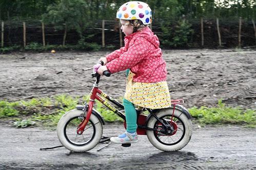 Zanne fietst