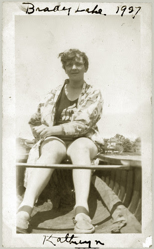 Girl in boat 1927