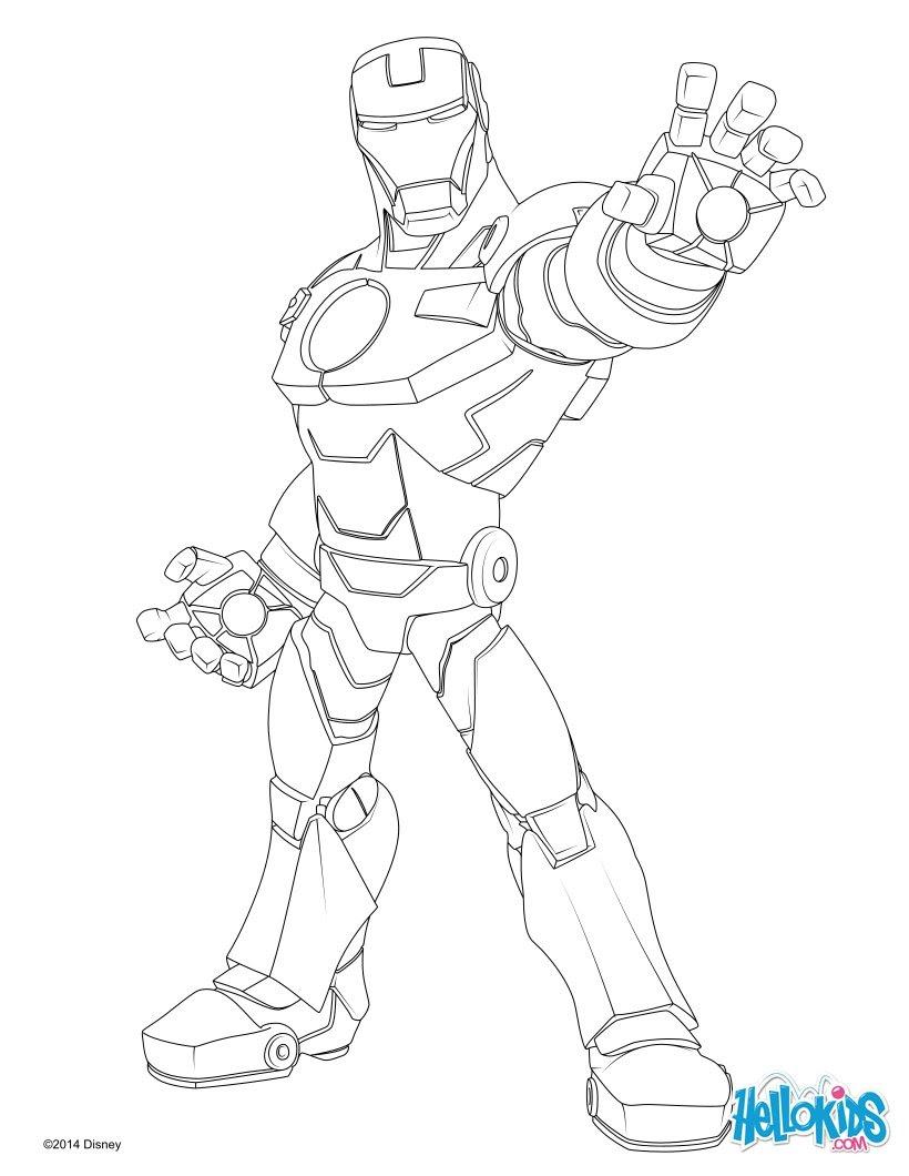 Iron man coloring pages - Hellokids.com
