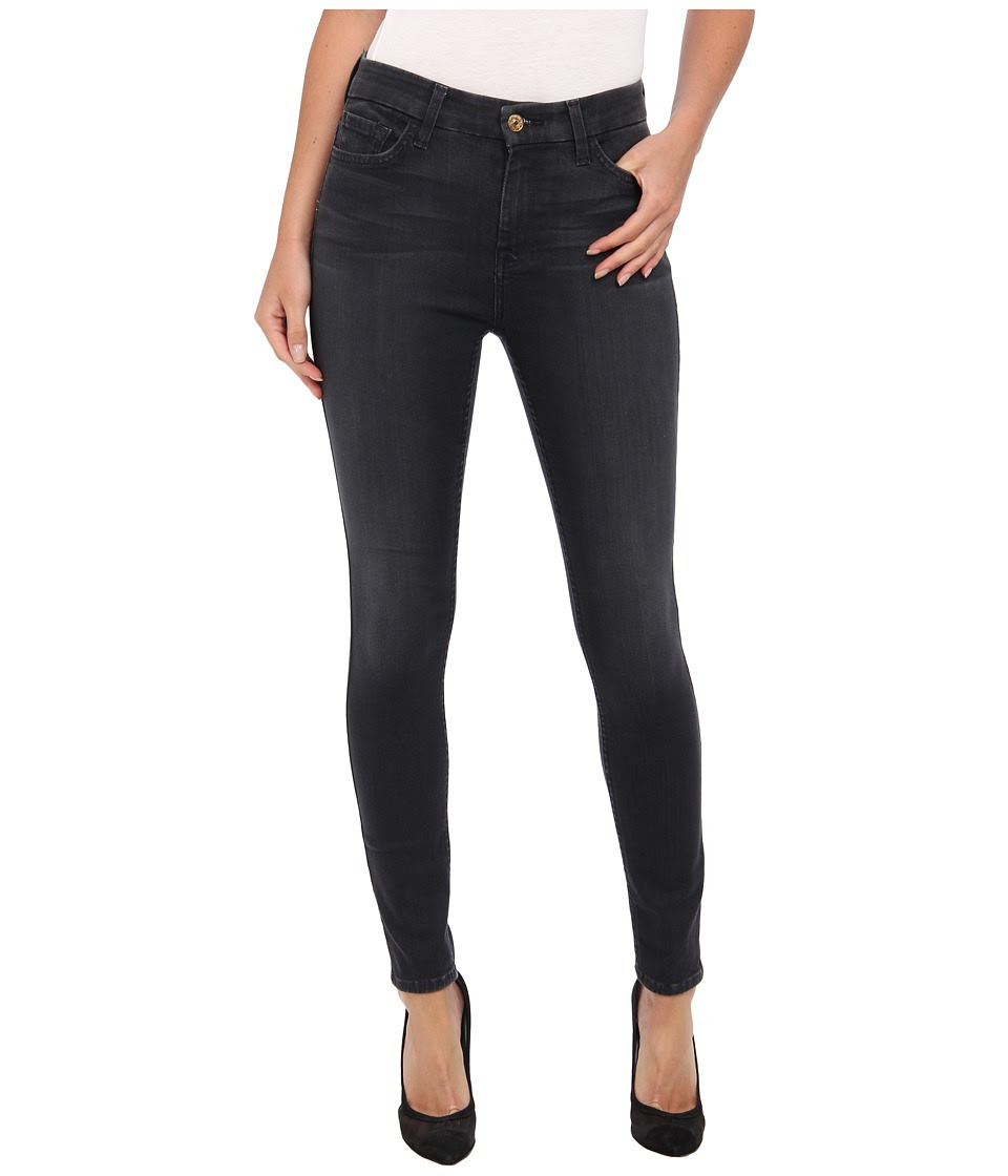 7 For All Mankind - The High Waist Ankle Skinny w\/ Contour Waistband in Bastille Grey (Bastille Grey) Women's Jeans