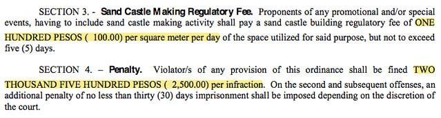 penalties for sandcastle infractions
