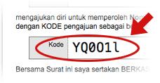 Ilustrasi Kode Ajuan