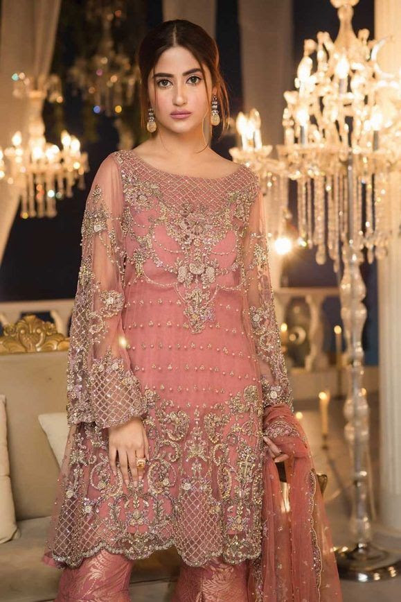 pakistani fancy dresses for weddings 2018