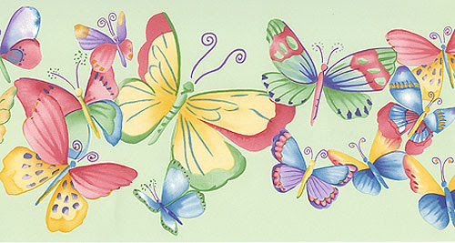 Butterflies Wallpaper Border - Bugs Wall Decor Border Roll