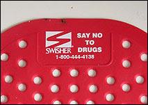 Swisher Urinal Matt: Say No to Drugs