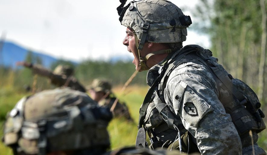 "Capable manpower appears to be the biggest hurdle to President Trump's goals for a strong military. Only 17 percent of all military-age Americans would be deemed physically ""qualified military available"" for service, according to an assessment. (Associated Press)"