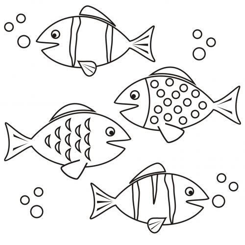 Coloring Page - Fish - KidsPressMagazine.com