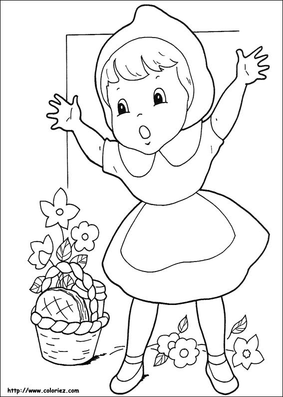 Coloriage204 Coloriage Chaperon Rouge