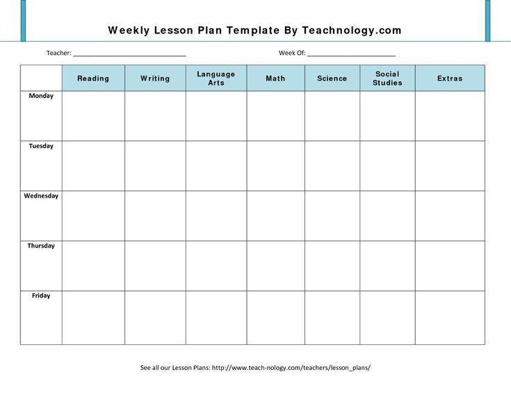 1000+ ideas about Blank Lesson Plan Template on Pinterest | Lesson ...