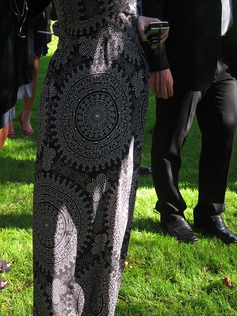 I totally kinneared this lady's dress. The fabric is amazing.