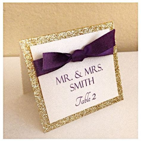 Gold wedding place cards, wedding seating cards, Gold