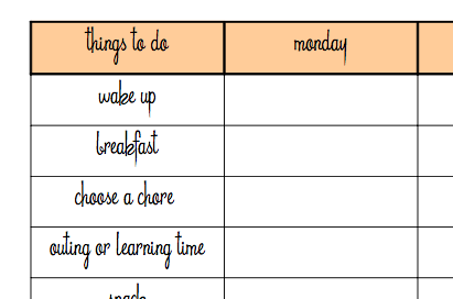 Daily Schedule Kids Template | Daily Planner