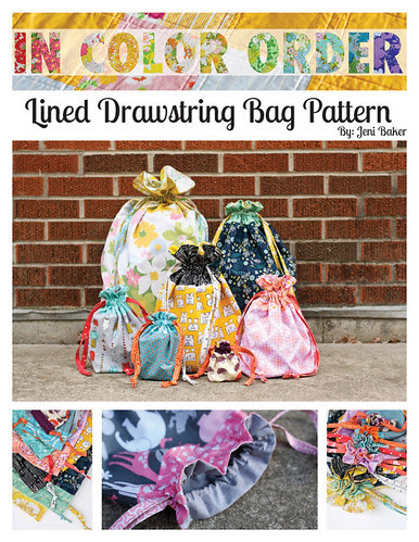 Lined Drawstring Bag Pattern by jenib320