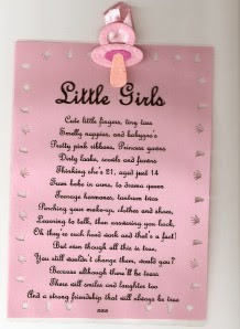 New Baby Girl Poem Custom Birth Announcement Personalized Baby