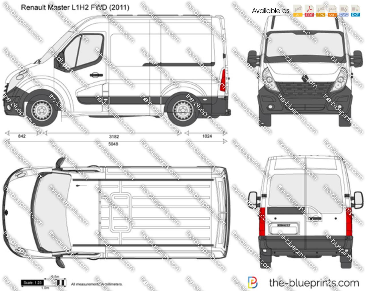 Dimension Garage  Renault Master L1h2