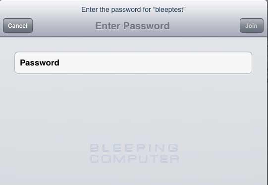 Enter your wireless network password