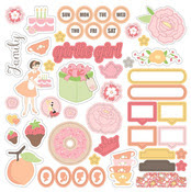 Twirlie Girly 12 x 12 Icon Sticker Sheet - Chickaniddy