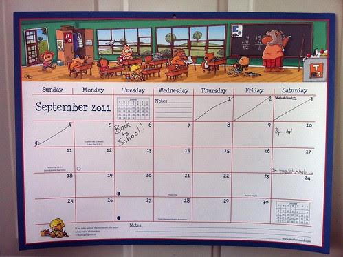Mom's Ultimate Family Fridge Calendar by Hilroy