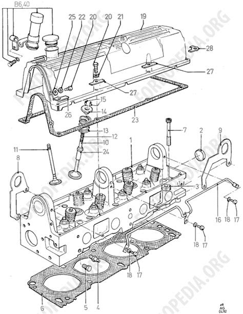 Pinto OHC engines parts list: B2.10 - Cylinder Head/Valves