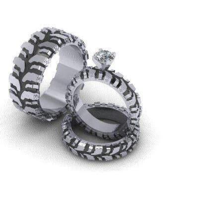 Gearhead Wedding Rings   Donna & Tora