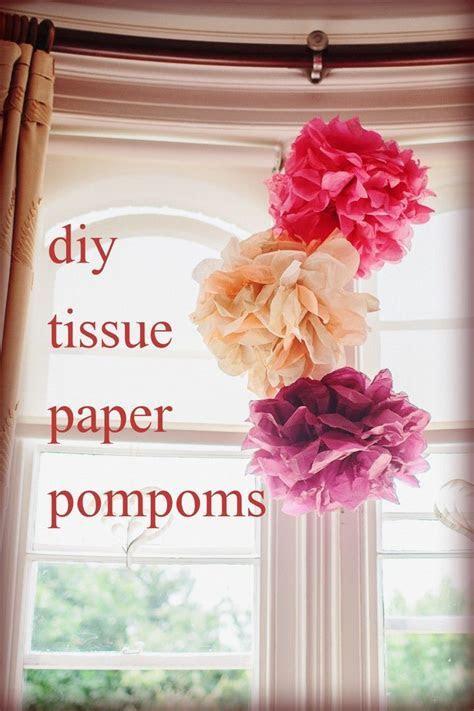 DIY Tissue Paper Pom Poms   Natalie first birthday   DIY