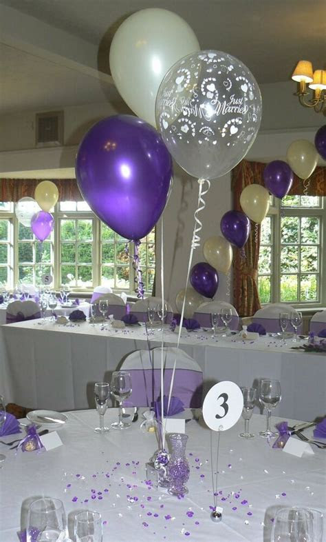 wedding balloons  table decorations  designs