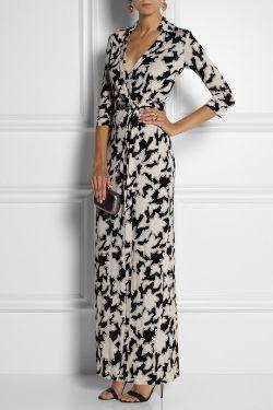 Diane von Furstenberg Abigail Silk Jersey Maxi Dress
