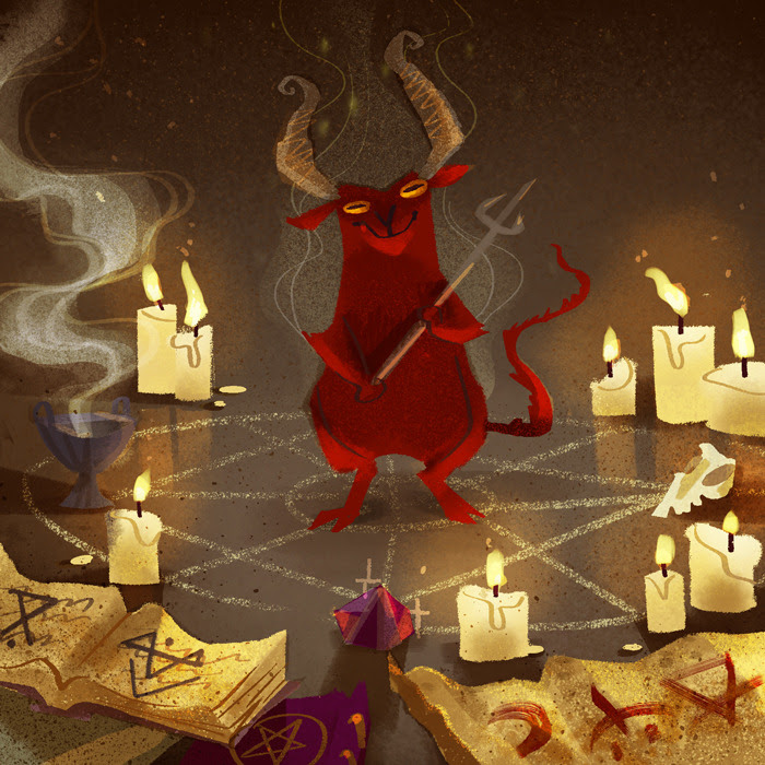 drawlloween: summoning the wrong demon