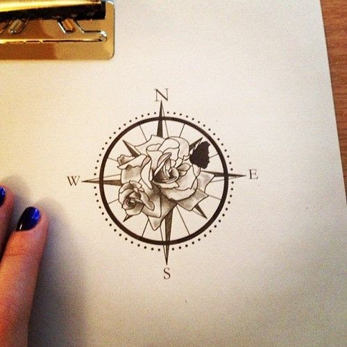 Compass Rose Tattoo Design
