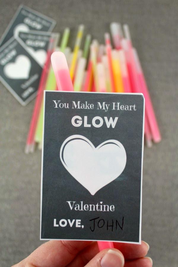 glow stick valentine for kids