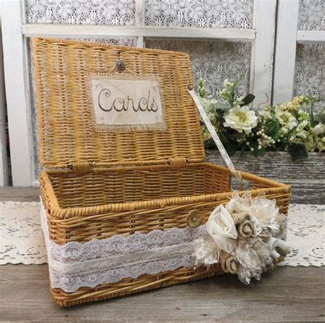 Vintage Basket Wedding Card Holder   Wedding card