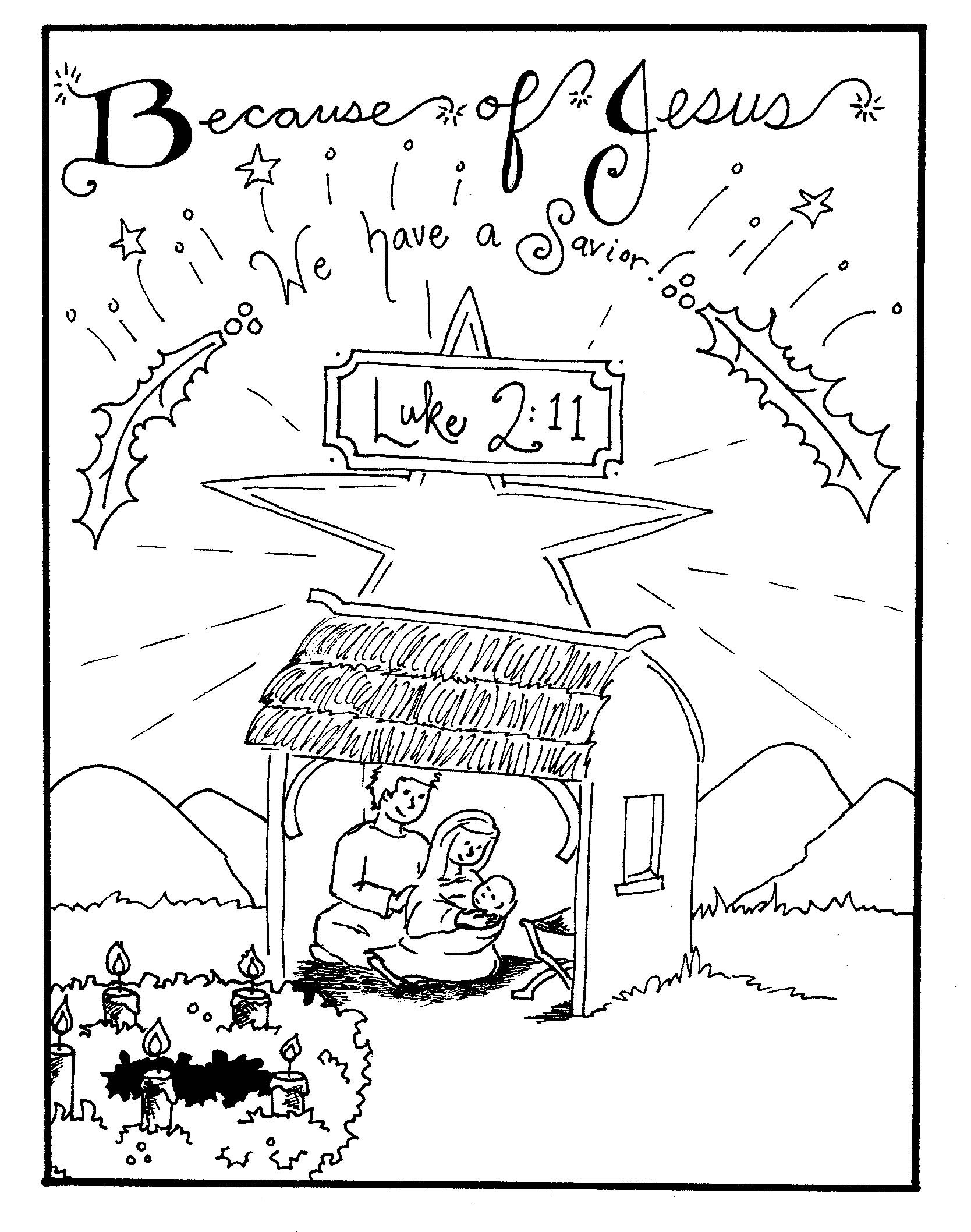 Free Printable Nativity Coloring Pages for Kids  Best Coloring Pages For Kids