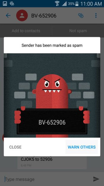 warn-other-about-spam-text-message-sender-truemessenger