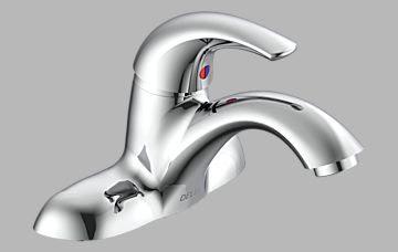Lavatory Faucets Single Handle Centerset Bathroom Faucet Less Pop