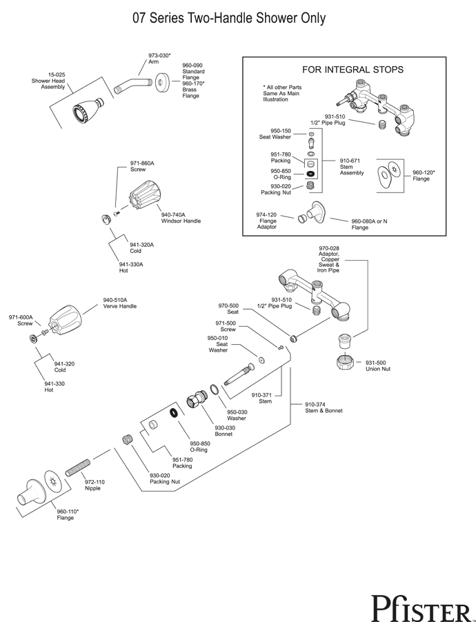Price Pfister Shower Parts Diagram